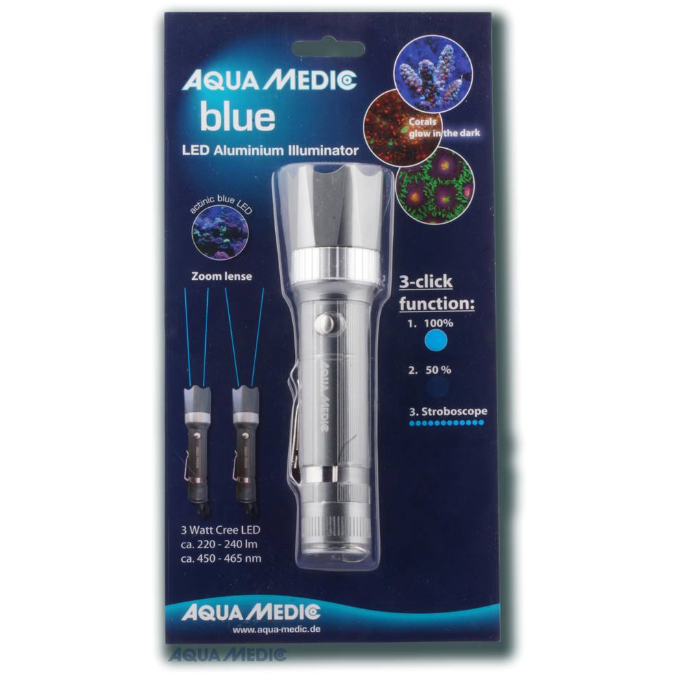 Aquamedic Blue Aluminium Torch