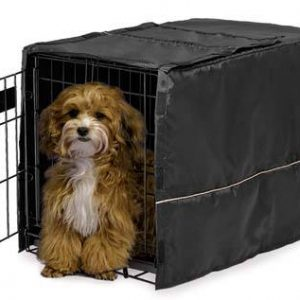 MidWest Black Dog Crate Cover