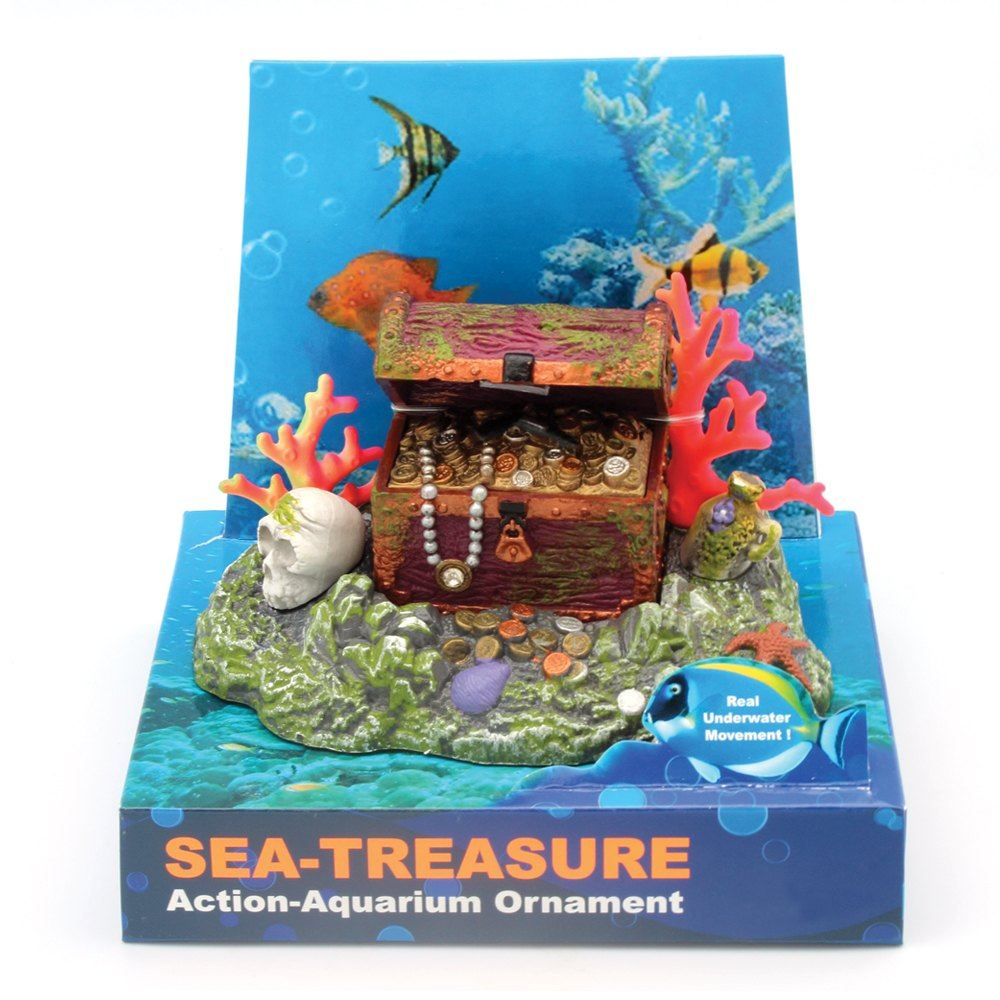 Hugo Kamishi Treasure Chest Aerating Aquarium ornament